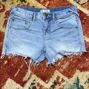 Free People split thigh Daisy Dukes size 24